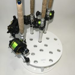 Circular Rod Holder For 16 Big Game Rods Plus Easy Swivel
