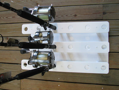 Fishing Rod Rack for 18 Conventional and Spinner Rods