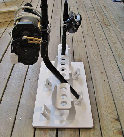 Big Game Fishing Rod Rack for 11 Rods Plus A 5 Bent Butt Rod Rack For Offshore Rigs