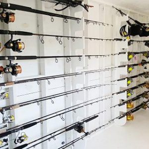 Horizontal Rod Holder For 19 Big Game Rods And Reels