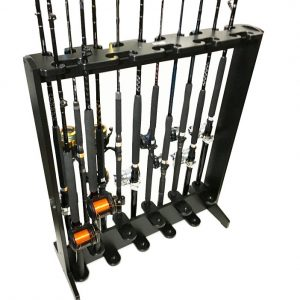 Rectangular 20 rod holder with varied heights